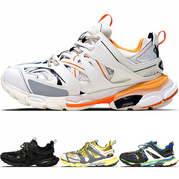 New Fashion Triple S Track Scarpe da ginnastica uomo Sport Scarpe da corsa Designer Clunky Sneaker Black Orange Women Walking Luxury Paris Scarpe da papà sporche