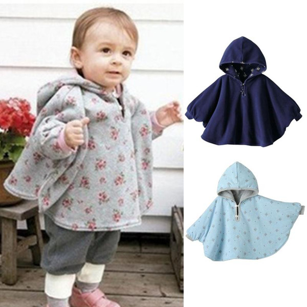 Fashion Baby Boys Girls Coat Clothes Smocks Outwear Cotton Cloak Mantle Children\'s Poncho Shawl Cape Wrap for 0-24M