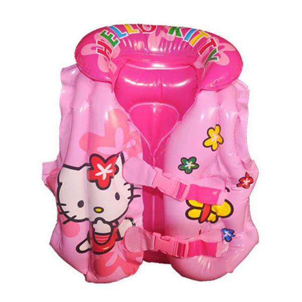 2-5 anni Bambino Swim Vest Girl Gilet di salvataggio gonfiabile per la pesca del bambino Gilet galleggiante Swim Circle Ring Accessori piscina