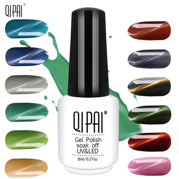 QIPAI Super Shining High Quality Magic Nail Polish 31 Colors Cat Eye UV Gel Use for Nail Salon Cat Eye Gel Polish Gelpolish