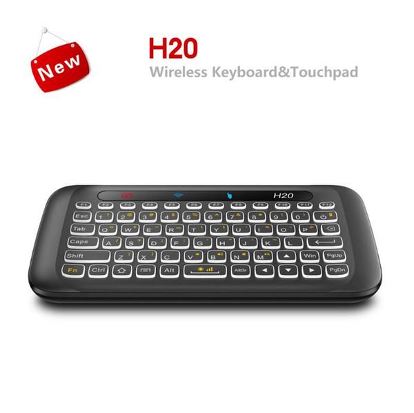 2.4 Ghz H18 H20 Mini teclado retroiluminado Pantalla completa Sin alfabeto H18 + Ratón inalámbrico de aire y teclado Control remoto con teclado táctil