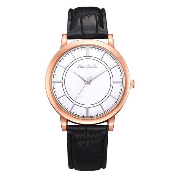 Moda Feminina Meninas Senhoras Relógios De Couro NOVA Pulseira Relógio Analógico Relógio De Pulso De Luxo reloj Saat 2018