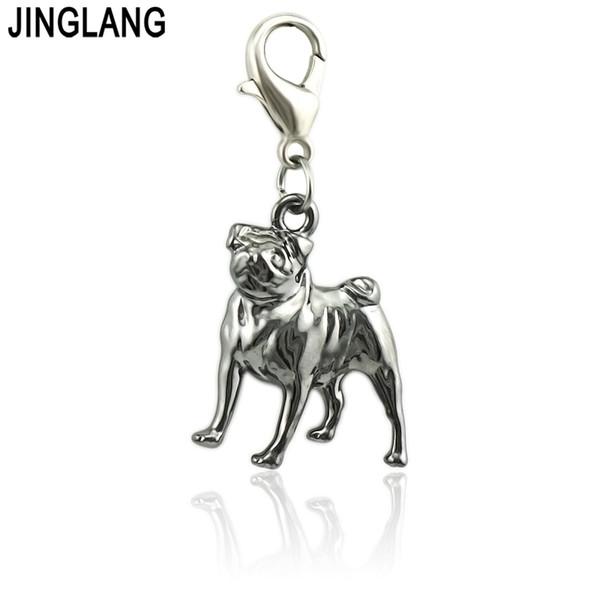 JINGLANG Hot Sale animal Dog Pendant For Necklace & Bracelet Pineapple Charms Ananas Pendant DIY Making Wholesale