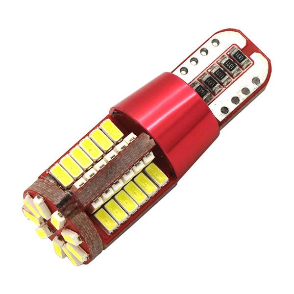 2PCS Car Styling Car Auto LED T15 T10 194 W5W Canbus 57SMD 3014 LED Light Bulb No Error Light Parking T10 Car Side Light