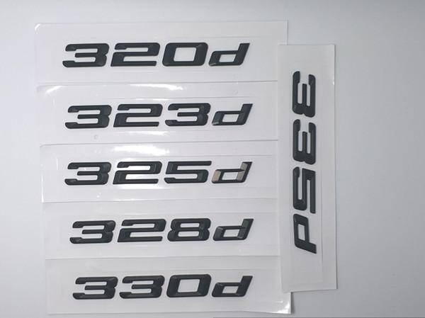 BLACK Car Styling 320d328d 330d335d Car Emblem Rear Number Letter sticker for BMW 3 series E21 E30 E36 E46 E90 E91 E92 E93 F30 F31 F34