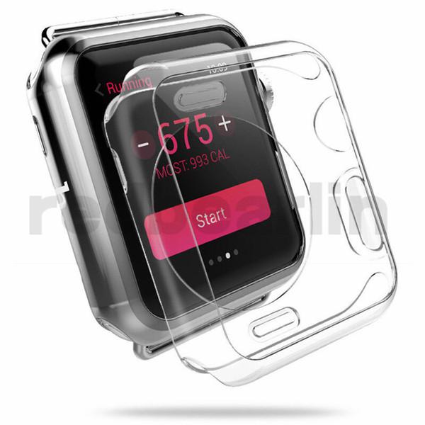 Para el estuche Iwatch 4 40 mm 44 mm 3D Touch Cubierta de TPU suave ultra clara Parachoques Apple Watch Series 1 2 3 4 Protector de pantalla para Apple Watch 4 casos