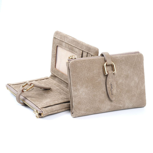 2018 Fashion Women Short Purses PU Leather Female Wallet Perse Card Holder Coin Money Bag Soft Dollar Price Ladies Wallet Small
