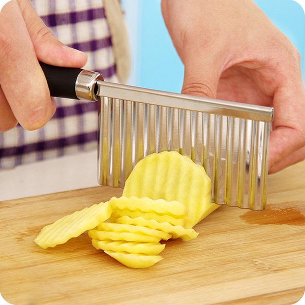 New Arrival Stainless Steel wavy edged kitchen knife cutter for Vegetable Fruit Cutting Peeler potato slicer cooking tools
