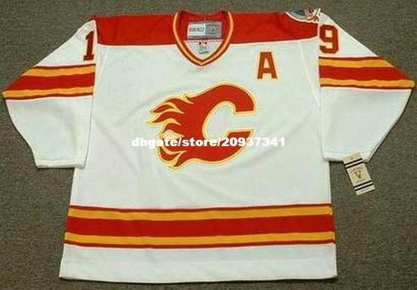 Wholesale Mens TIM HUNTER Calgary Flames 1989 CCM Vintage Home Cheap Retro  Hockey Jersey 70e3c71f7