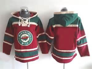 Hot Sale Mens Minnesota Wild Blank Red Best Quality Cheap Full Embroidery Logos Stitched Ice Hockey Hoodies Accept Mix Order Size S-3XL