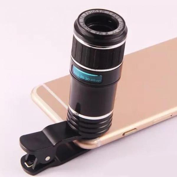 Objectif de caméra de télescope de téléphone portable de clip optique de zoom 12X pour le téléphone portable Smartphone