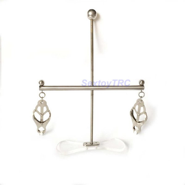 Steel Nipple Pulling System Nipple Clamps Slave Training Equipment Metal BDSM Sex Toy Breast Tits Chest Teasers for Male and Female