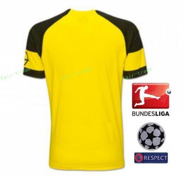 18 19 Season Bundesliga BVB Soccer Jersey FC Borussia Dortmund Men 29  SCHMELZER 36 TOPRAK 5 HAKIMI 1 BURKI Football Shirt Kit Club 7b188693b