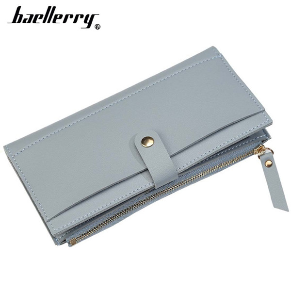 2018 Baellerry Women Wallets Long PU Leather Zipper Female Wallet Cell Phone Pocket Big Top Quality Brand Purse For Girl