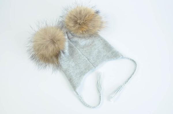 Grey natural fur