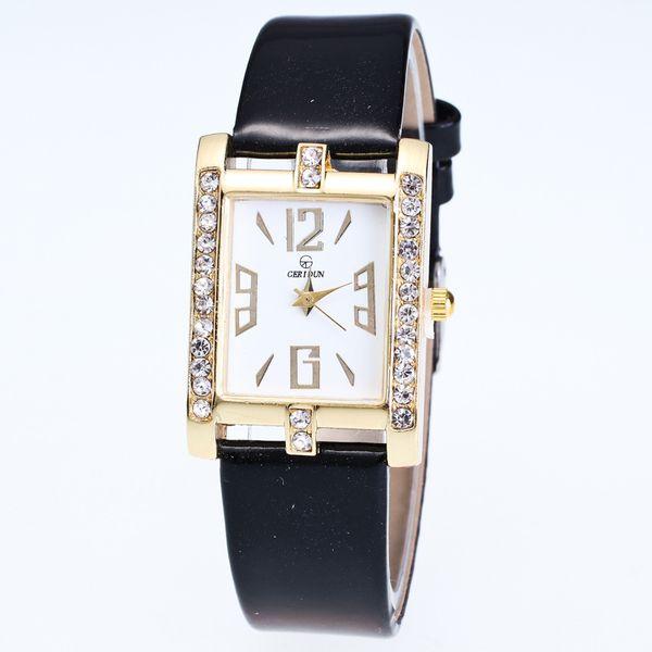 New Luxury Jewelry Ladies Square Watches Diamond Bracelet Quartz Women Watch Fashion Leather Numeral Casual Clock