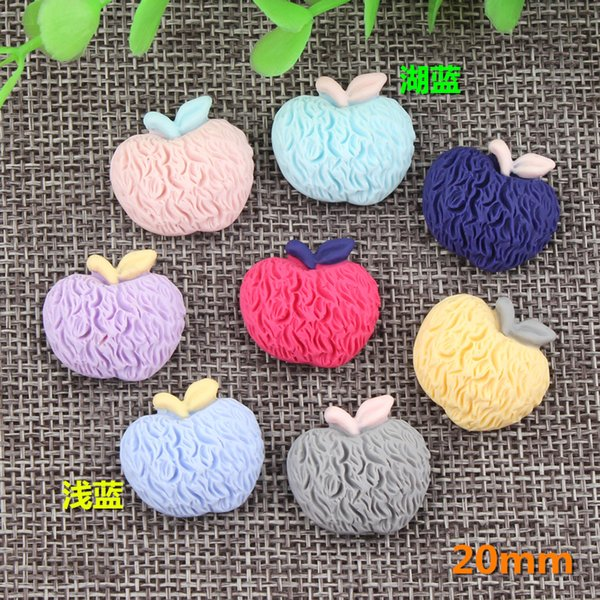 20mm DIY imitation fabric accessories candy color Apple charm children's gloves hair leather hand-made materials wholesale