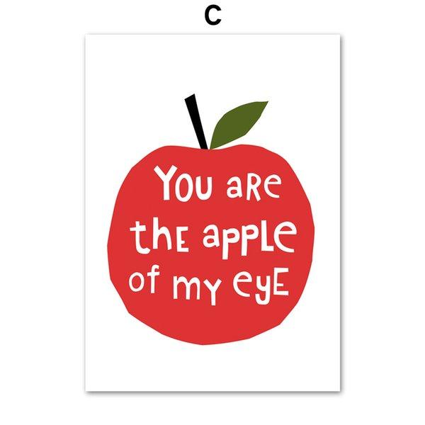 13X18 cm Kein gerahmter Apfel