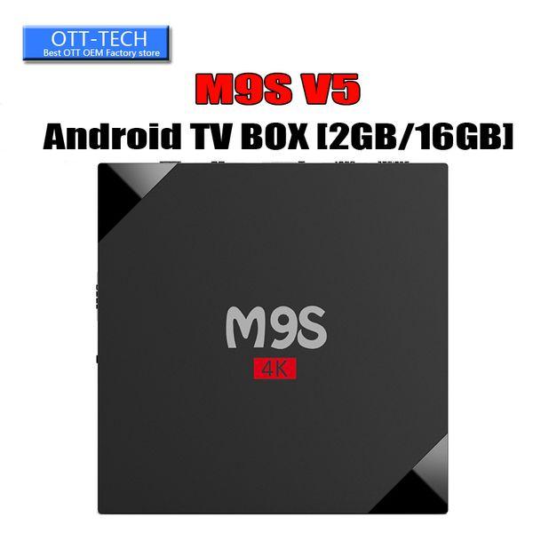 RK3229 M9S V5 Android TV Box 4K HDR H.265 HEVC media player 1GB 8GB 2GB 16GB Internet TV Box Better TX3 X96 MINI S905W