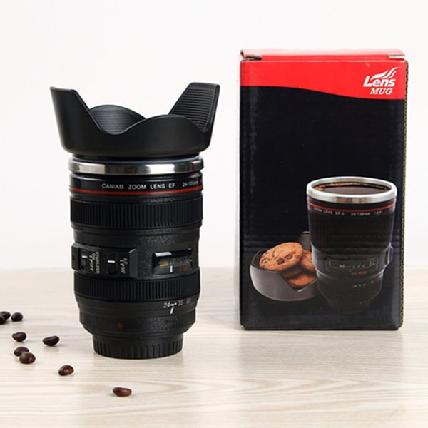 14OZ Camera Lens Mugs Coffee Mugs 4 Generation Water Bottles 304 Stainless Steel Liner Travel Cups as Gifts