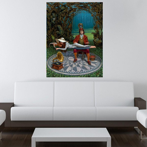 top popular Michael Cheval,Imagine III, artwork print on canvas modern high quality wall painting for home decor unframed pictures 2021