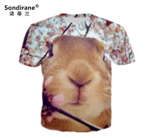 Sondirane New Fashion Animal 3D Print Short Sleeve T Shirts Design Women/Men Quick Dry Tee Shirt Casual Hip Hop Tops Comfortable