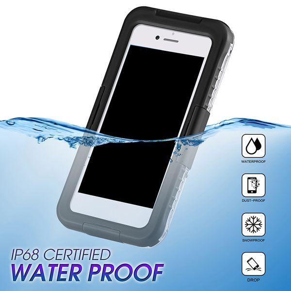 Nouveau Design IP68 Étanche À La Poussière Antichoc Étui Téléphone Protecteur Pour Samsung Galaxy S8 S8 Plus S9 S9plus iPhone 8 7 6 plus