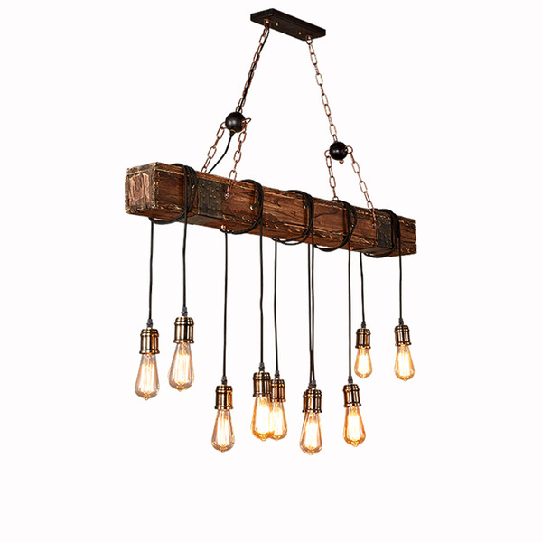 Industrial wood lighting Pendant Lights retro boat wooden Pendant Lamp L118cm restaurant bar cafe clothing Home lighing G215