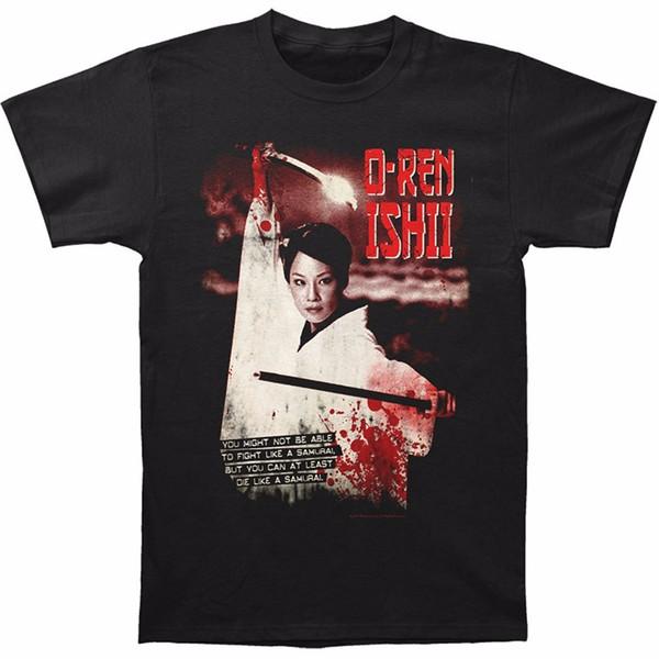 Camiseta de Verão Personalidade Moda Camisetas Curto Kill Bill O - Ren Ishii Equipado Jersey Tee Homens Presente O - camisas de Pescoço