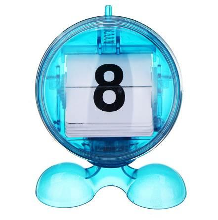 top popular Round Blue Desktop Manual Mini Flip-page Calendar Counter ABS Digital Display Day Month Perfect for the Home or Office 2020