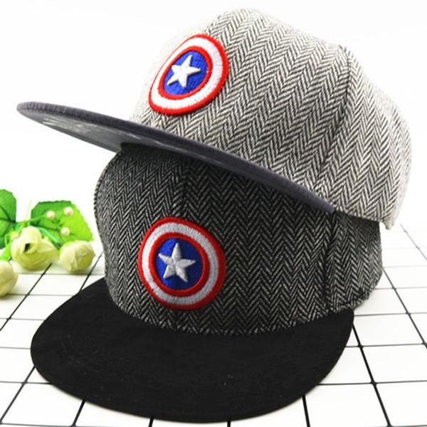 2018 Summer Captain America Avicii Children's Baseball Cap Boys Hats Girls Hip Hop Gorras Hombre Snapback For Kids Anime Hat