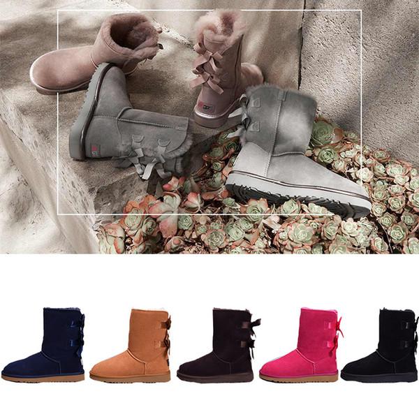 2018 kış Yeni ugg  Avustralya Klasik kar Botları Kaliteli Ucuz kadınlar kış çizmeler moda indirim Ayak Bileği ayakkabı boyutu 5-12
