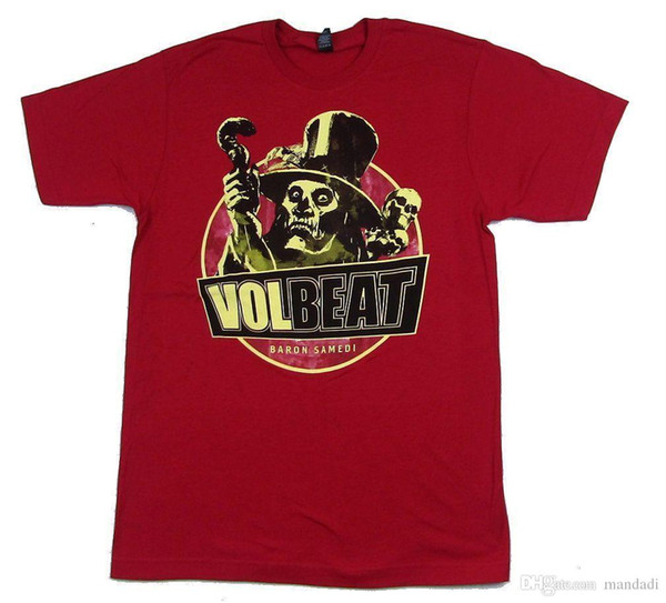 Volbeat Baron Samedi Red T Shirt New Official Band Merch Soft Buy Tee Top T  Shirt Sites From Nickkyo004, $12 78| Dhgate Com
