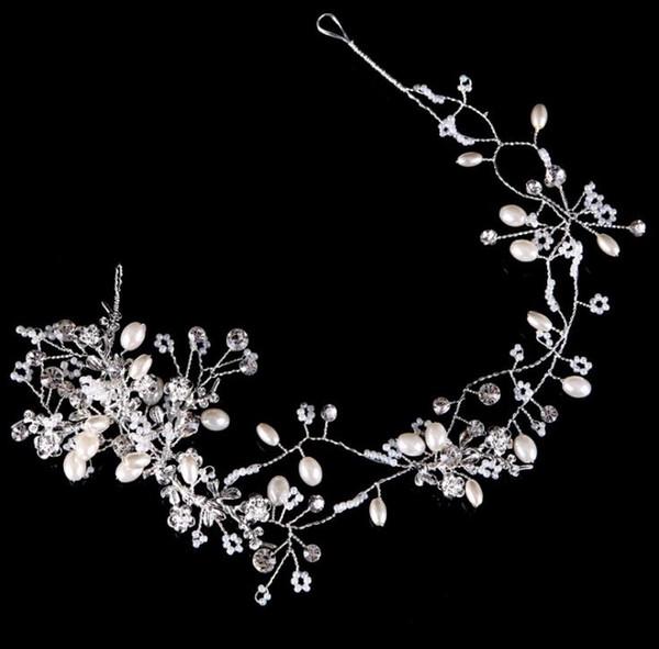 New headwear, gold and silver cross pearl hair belt, bridal hair ornament, bridal ornaments