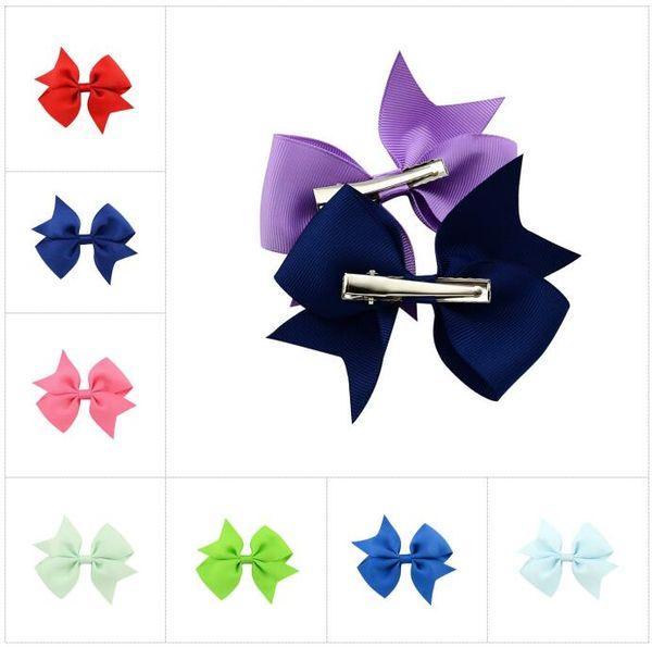 20 colores cintas para el pelo del bebé arcos 4 pulgadas arco de la cinta diademas para niñas niños accesorios para el cabello niños princesa elástica tocado BY0183