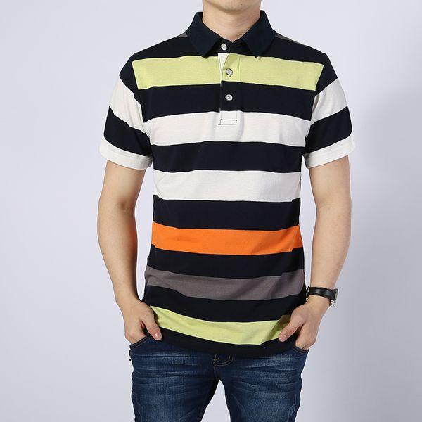 Man Striped Business Casual Cotton Shirt Men Short Sleeve Fashion Slim Fit Men's Shirts Mens Clothes 2018