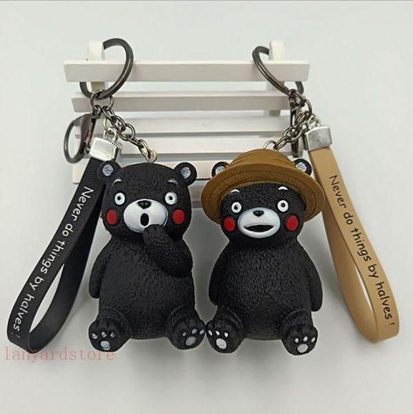 Cartoon Dai Meng anime japonés oso llavero animal pegamento BB llavero percha coche Satchel decoraciones Al Por Mayor