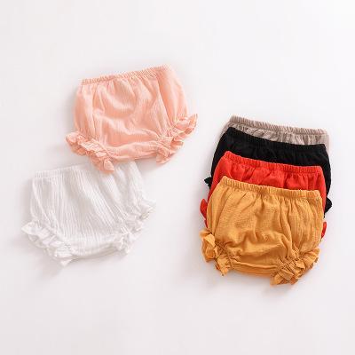 2018 Brand Newborn Toddler Infant Baby Kid Girl Harem Short Pants Solid Bottoms PP Bloomers Ruffled Panties