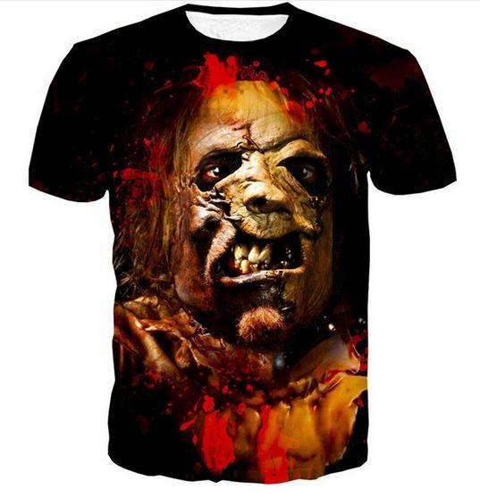 Nova Moda Mens / Womans Chainsaw Estilo Verão Tees 3D Impressão Casual T-Shirt Tops Plus Size ZQ016