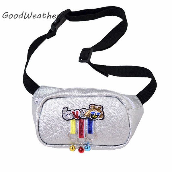 Designer ba for women fashion silver leather fanny pack woman soft PU fanny packs female bag hip bags money belt bag
