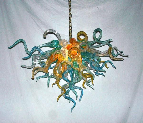 Custom Made Mão Soprado Lustre de Vidro Luz para Sala de estar Decoração Modern Art Decor Itália Projetado Candelabro De Vidro para Venda