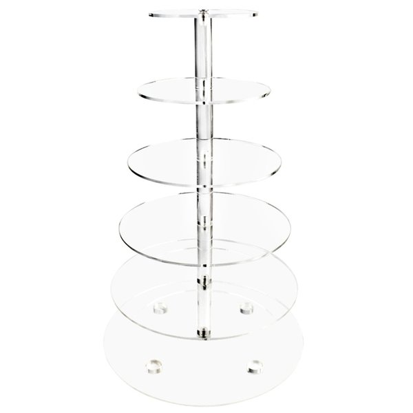 Free DHL/EMS Acrylic Cake Display Stand 6 Tier Cupcake Stand Acrylic Cake Stands for Wedding Decoration Brithday Party Supply
