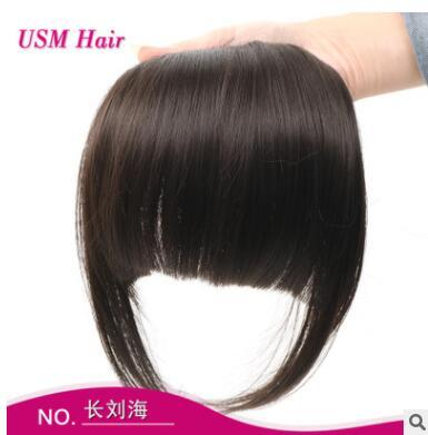 top popular Europe and the United States new style lengthening seamless, bangs with the temples stealth, Liu Hai, black brown manufacturers direct sales 2019
