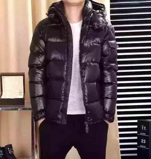 M Brand Men Black Coats 90% White Duck Down Jacket Large Raccoon Fur Collar Down Coat Hooded Thick Duck Down Parkas