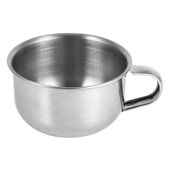 Stainless Steel Shaving Bowl Cup Shaving Razor Contaioner Barber Brush Cleaning Soap Mug Bowl With Handle