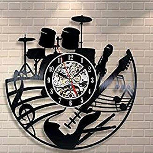 diy подарок для часы любовь группа подарок вентилятор черный номер идея виниловые Часы настенные искусства домашнего декора