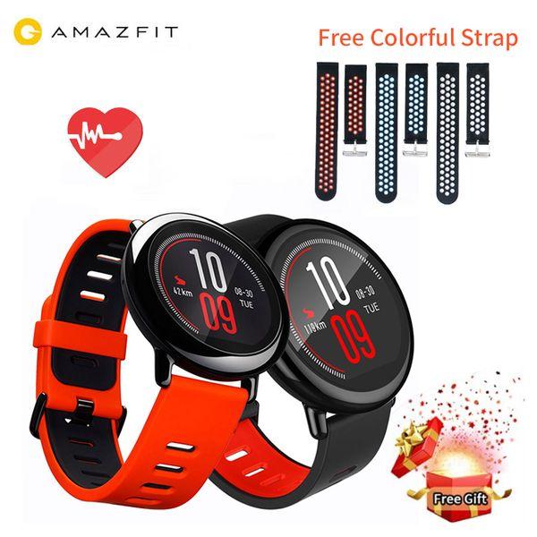 [VERSIÓN EN INGLÉS] Original Xiaomi Huami Reloj AMAZFIT Pace GPS Running Bluetooth 4.0 Deportes reloj inteligente MI Heart Rate Monitor CE