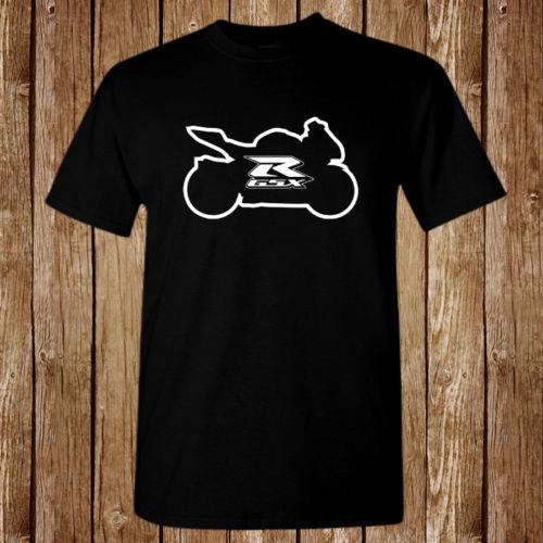 Suzuki GSXR Rennlogo Balck T-Shirt Unisex Kurzarmshirt Tops Hochwertige Baumwolle Hip Hop Kurzarm