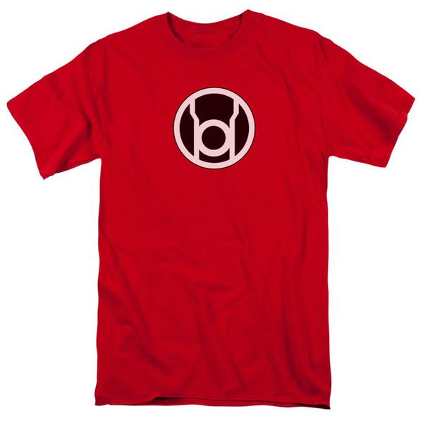 100% Cotton Men T Shirt Tees Custom Green Lantern Red Lantern Logo DC Comics Licensed Adult T Shirt
