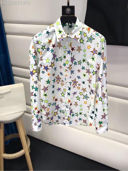 2018 новый высокое качество модные блузки рубашки взлетно-посадочной полосы лето мужчина марка роскошная мужская одежда 08186